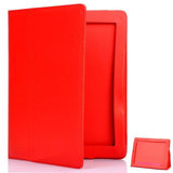 Leder look hoes voor iPad2 en de new iPad (iPad 3) (Rood)_6