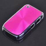 Bescherm hoesje met aluminium achterzijde voor de Blackberry 8520 (roze)_