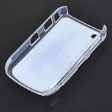 Bescherm hoesje met aluminium achterzijde voor de Blackberry 8520 (zilverkleurig)_