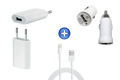Lader set 3 delig voor Iphone - iPod (wit)