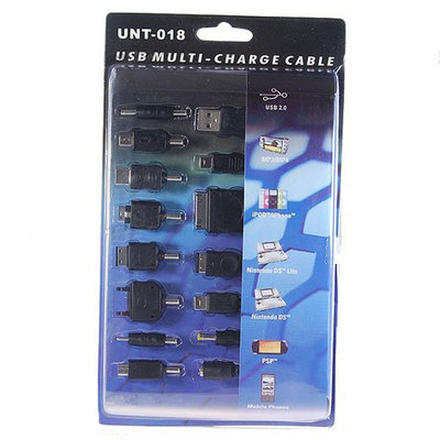 14-in-1 Universele USB lader voor MP3/MP4/mobiele telefoon/iPod/iPhone/PSP/NDS/NDS Lite