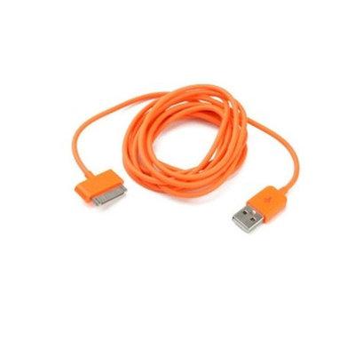 Extra lange data/laad kabel voor iphone/ipod/ipad (2m-oranje)