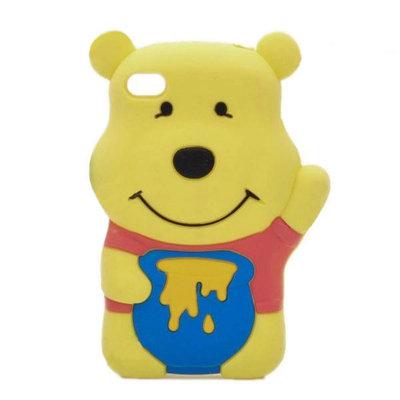 Winnie the pooh hoesje voor iPhone 4/4s (geel)
