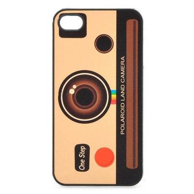 bescherm case cover camera foto toestel polaroid voor iPhone 4/4s (geel-bruin)
