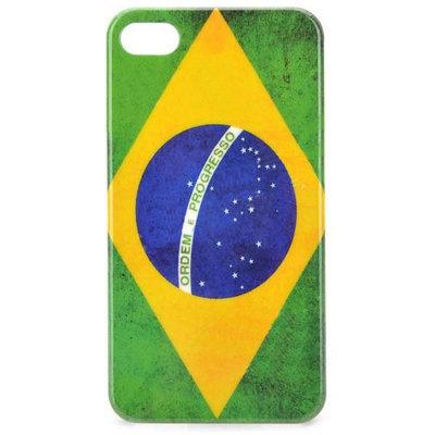 bescherm case cover brasiliaanse flag brasil voor iPhone 4/4s (groen-geel-blauw)