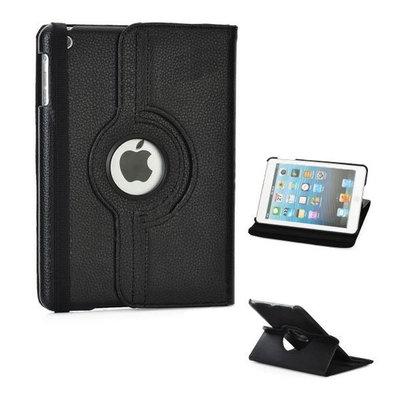 Draaibare lederlook cover  voor iPad mini (zwart)