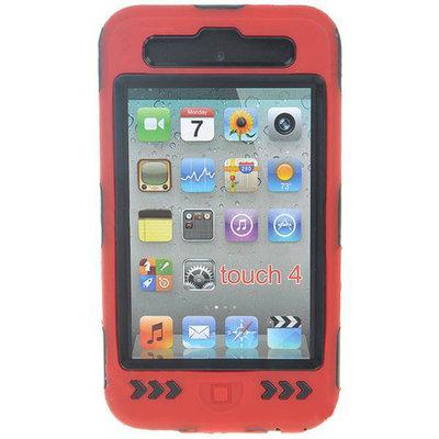 Super beschermhoes voor de iPod touch 4 (zwart-rood)