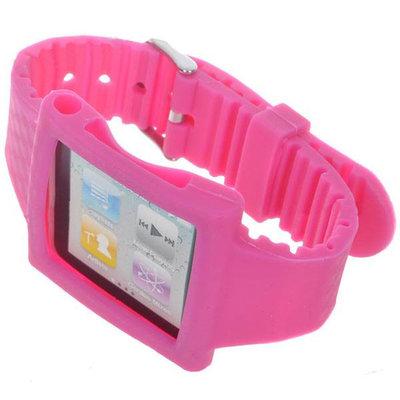 siliconen Horloge band voor iPod Nano (roze)