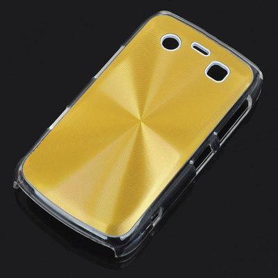Bescherm hoesje met aluminium achterzijde voor de Blackberry 9700 (goudkleur)