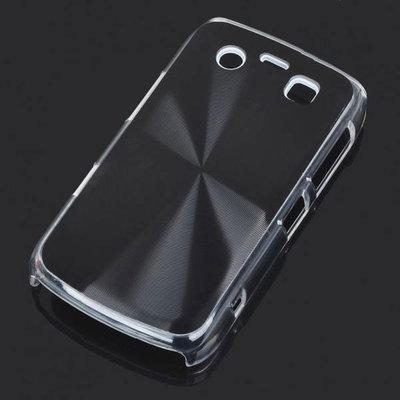 Bescherm hoesje met aluminium achterzijde voor de Blackberry 9700 (zwart)