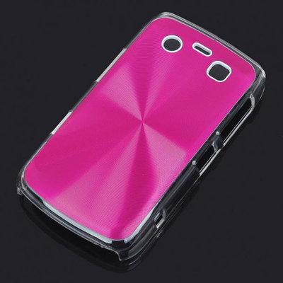 Bescherm hoesje met aluminium achterzijde voor de Blackberry 9700 (roze)