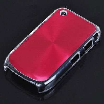 Bescherm hoesje met aluminium achterzijde voor de Blackberry 8520 (rood)