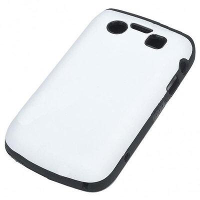 Siliconen hoesje voor Blackberry 9700/9020 (zwart/wit)