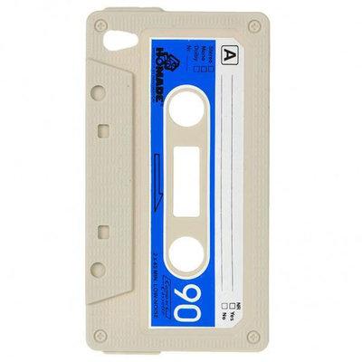 Siliconen Retro hoesje cassette bandje voor iPod touch 4 (Kaki)