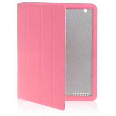 Mooi afgewerkte Cover met slaap/waak functie voor iPad 2 (Roze)