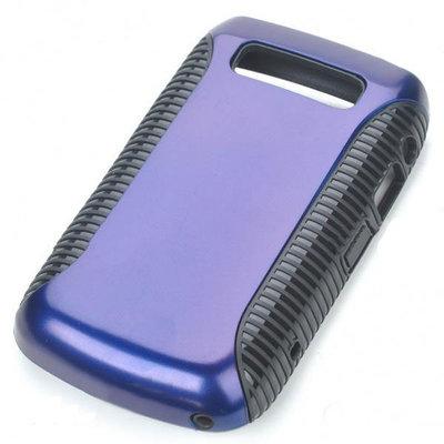 tweedelig Kunstof hoesje voor Blackberry 9700 (paars/zwart)