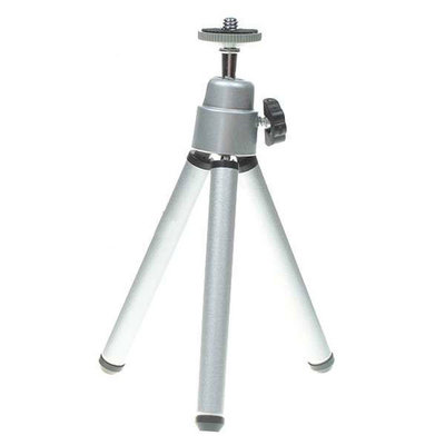 Mini tripod voor gebruik met lichte cameras zoals iPod en iPhone (grijs)