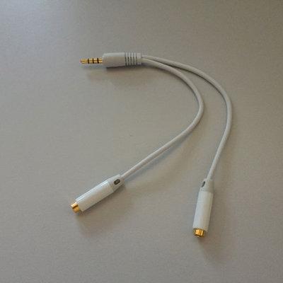 Hoofdtelefoon splitter kabel voor iPhone, iPod, iPad of andere mp3 speler
