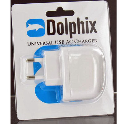 Dolphix Universele USB AC Oplader Wit