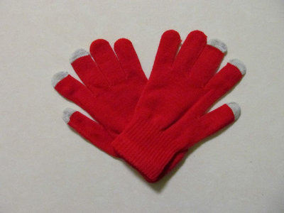 capacitive touchscreen handschoenen gloves (rood)