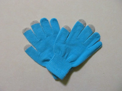 capacitive touchscreen handschoenen gloves (licht blauw)
