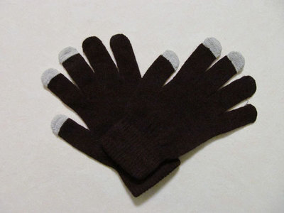 capacitive touchscreen handschoenen gloves (bruin)
