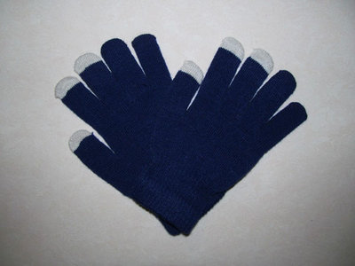 capacitive touchscreen handschoenen gloves (donker blauw)