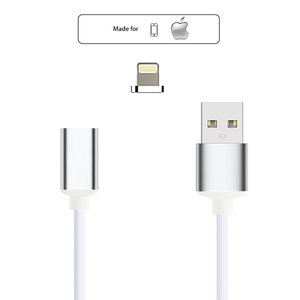 Magnetic charger cable lightning - magnetische laadkabel iPhone (zilver)