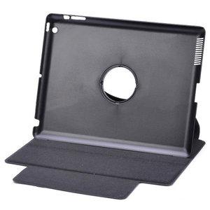 Draaibare cover met slaap/waak functie voor iPad2 en new iPad (ipad 3) (zwart)