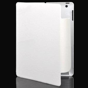 Draaibare cover met slaap/waak functie voor iPad2 en new iPad (ipad 3) (Wit)
