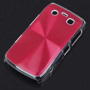 Bescherm hoesje met aluminium achterzijde voor de Blackberry 9700 (rood)