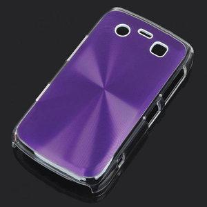 Bescherm hoesje met aluminium achterzijde voor de Blackberry 9700 (paars)