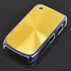 Bescherm hoesje met aluminium achterzijde voor de Blackberry 8520 (goudkleur)
