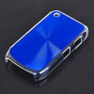 Bescherm hoesje met aluminium achterzijde voor de Blackberry 8520 (blauw)