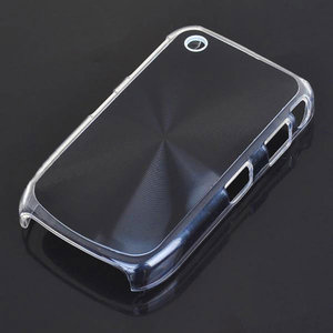 Bescherm hoesje met aluminium achterzijde voor de Blackberry 8520 (zwart)
